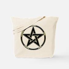 Earth, Air & Fire Pentagram Tote Bag