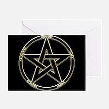 Earth, Air & Fire Pentagram Greeting Card
