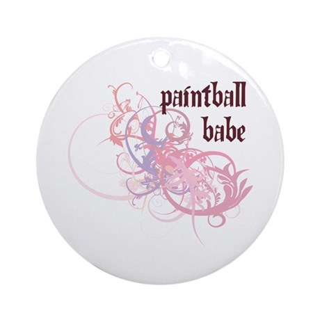 Paintball Babe Ornament (Round)