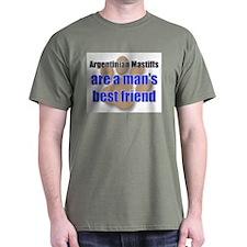 Argentinian Mastiffs man's best friend T-Shirt