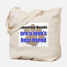 Argentinian Mastiffs man's best friend Tote Bag