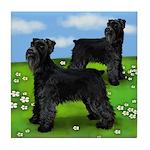 GIANT SCHNAUZER DOGS PARK Tile Coaster