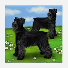 GIANT SCHNAUZER DOGS PARK Tile Coaster