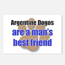 Argentine Dogos man's best friend Postcards (Packa