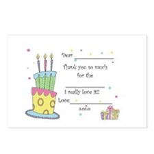 Birthday fill in the blank Postcards Package of 8)