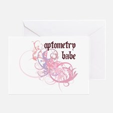 Optometry Babe Greeting Card