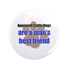 """Appenzell Cattle Dogs man's best friend 3.5"""" Butto"""
