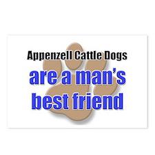 Appenzell Cattle Dogs man's best friend Postcards