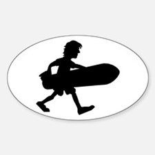 Surfing Oval Decal