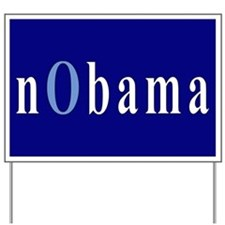 Baby Blue nObama Yard Sign