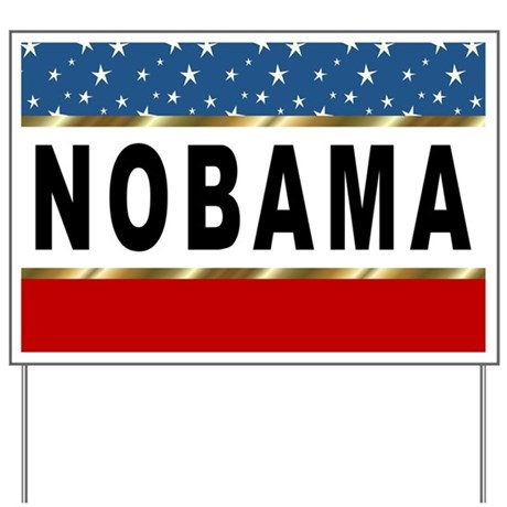RWB NOBAMA Yard Sign