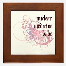 Nuclear Medicine Babe Framed Tile