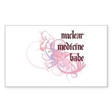 Nuclear Medicine Babe Rectangle Decal