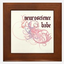 Neuroscience Babe Framed Tile