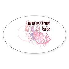 Neuroscience Babe Oval Decal