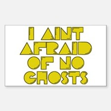 No Ghosts Rectangle Decal