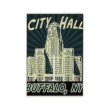 Buffalo City Hall Rectangle Magnet