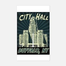 Buffalo City Hall Rectangle Decal