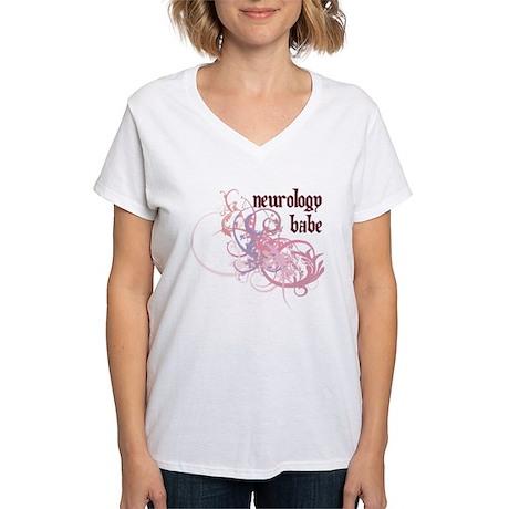 Neurology Babe Women's V-Neck T-Shirt