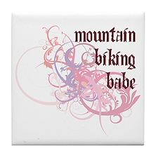 Mountain Biking Babe Tile Coaster