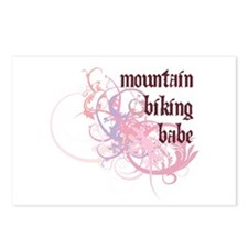 Mountain Biking Babe Postcards (Package of 8)