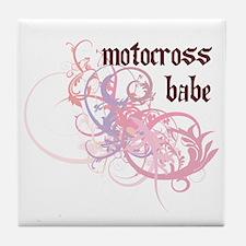 Motocross Babe Tile Coaster
