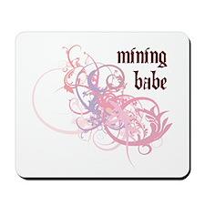 Mining Babe Mousepad