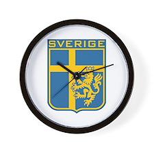 Sverige Wall Clock