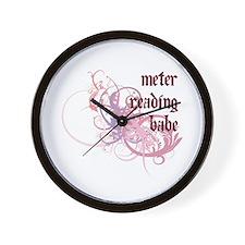 Meter Reading Babe Wall Clock