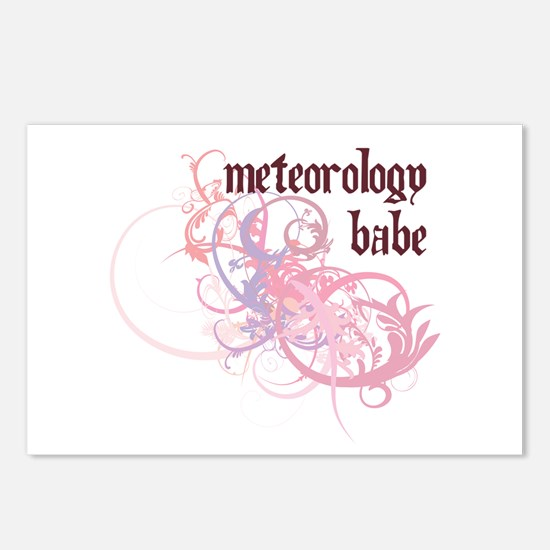 Meteorology Babe Postcards (Package of 8)