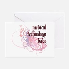 Medical Technology Babe Greeting Card