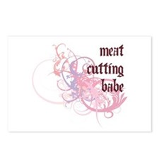 Meat Cutting Babe Postcards (Package of 8)