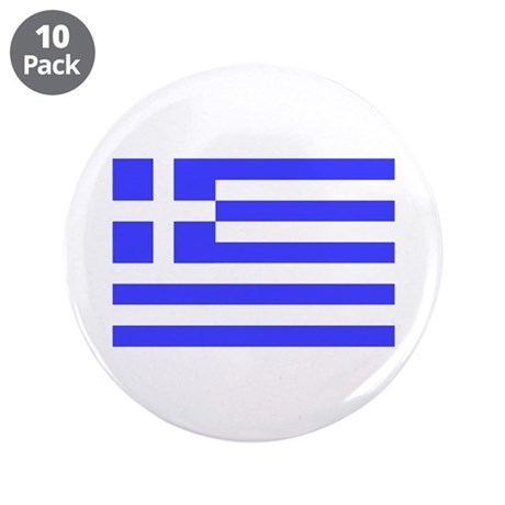 "Greek Flag 3.5"" Button (10 pack)"