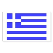 Greek Flag Rectangle Bumper Stickers