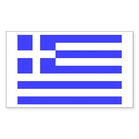 Greek Flag Rectangle Sticker
