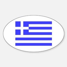 Greek Flag Oval Bumper Stickers