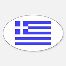 Greek Flag Oval Decal