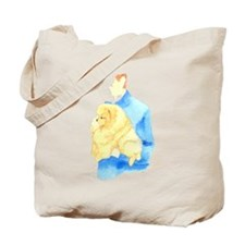 Pom Being Held Tote Bag