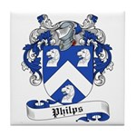 Philips Family Crest Tile Coaster