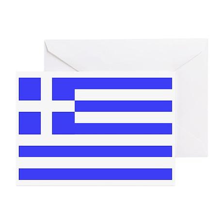 Greek Flag Greeting Cards (Pk of 20)