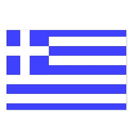 Greek Flag Total Postcards (Package of 8)