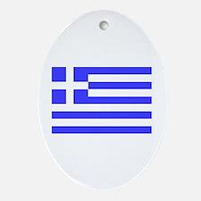 Greek Flag Oval Ornament