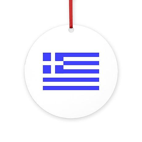 Greek Flag Ornament (Round)
