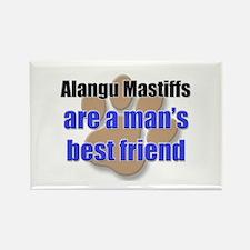 Alangu Mastiffs man's best friend Rectangle Magnet