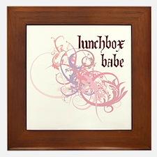 Lunchbox Babe Framed Tile