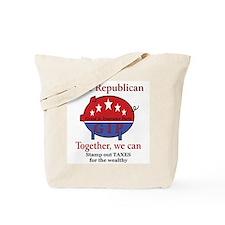 Tax Cut Pig Tote Bag