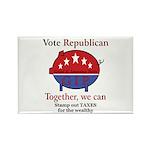 Tax Cut Pig Rectangle Magnet (100 pack)
