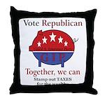 Tax Cut Pig Throw Pillow
