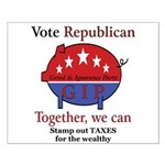 Tax Cut Pig Small Poster