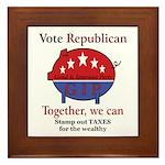 Tax Cut Pig Framed Tile